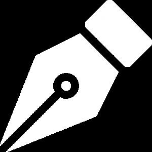 Plume de stylo encre, symbole de la rédaction web