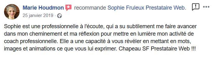 Témoignage de Marie Houdmon sur Facebook