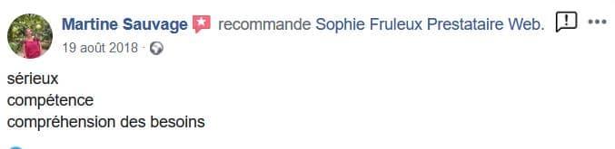 Témoignage de Martine Sauvage sur Facebook