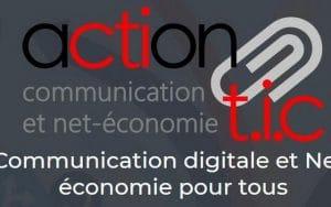 Logo de l'association Action TIC dont je suis la vice-présidente