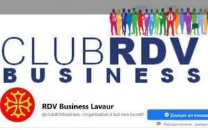 Visuel Facebook de l'Association RDV Business Lavaur dont je suis la secrétaire