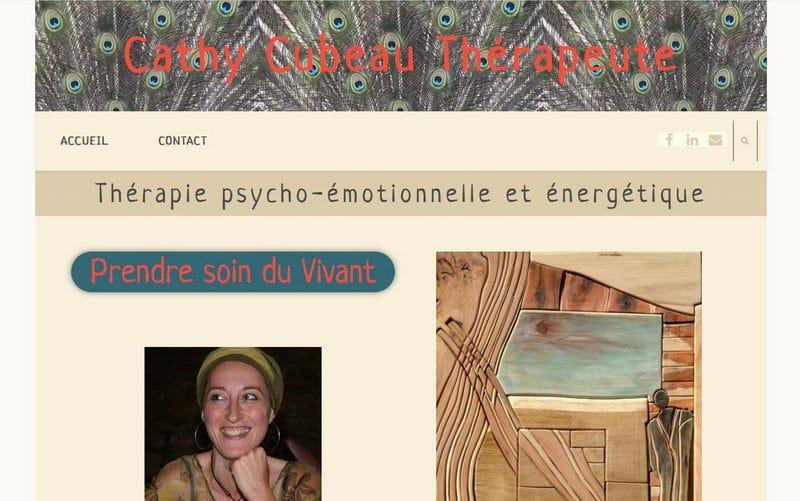 Capture d'écran du site de Cathy Cubeau thérapeute dans le Tarn