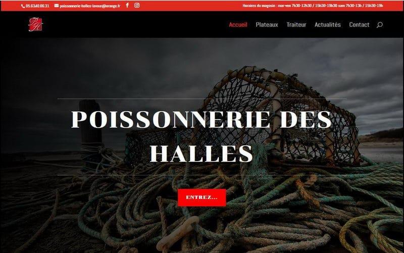 Capture d'écran du site de la poissonnerie des Halles à Lavaur