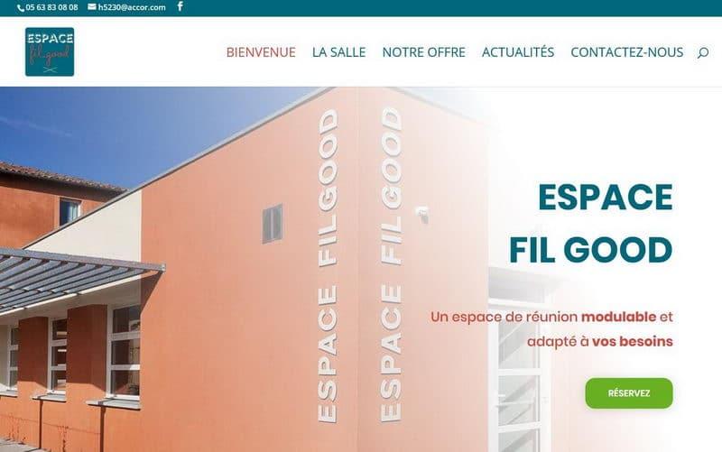 Capture d'écran du site de l'espace Filgood à Lavaur