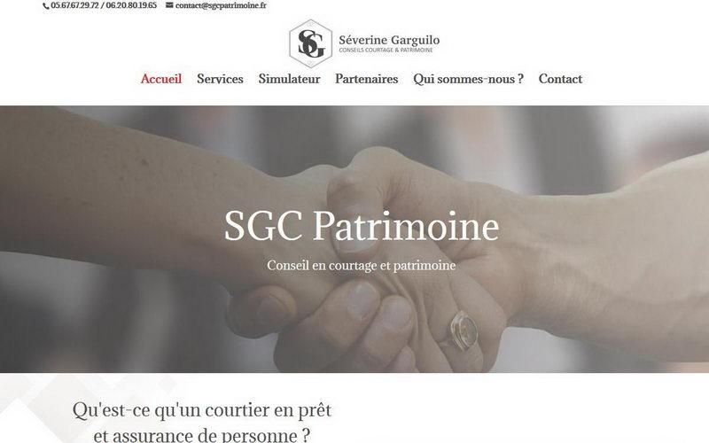 Capture d'écran du site de SGC Patrimoine